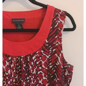 🍁Rafaella Red & Black Tank Top Blouse Sz M🍁